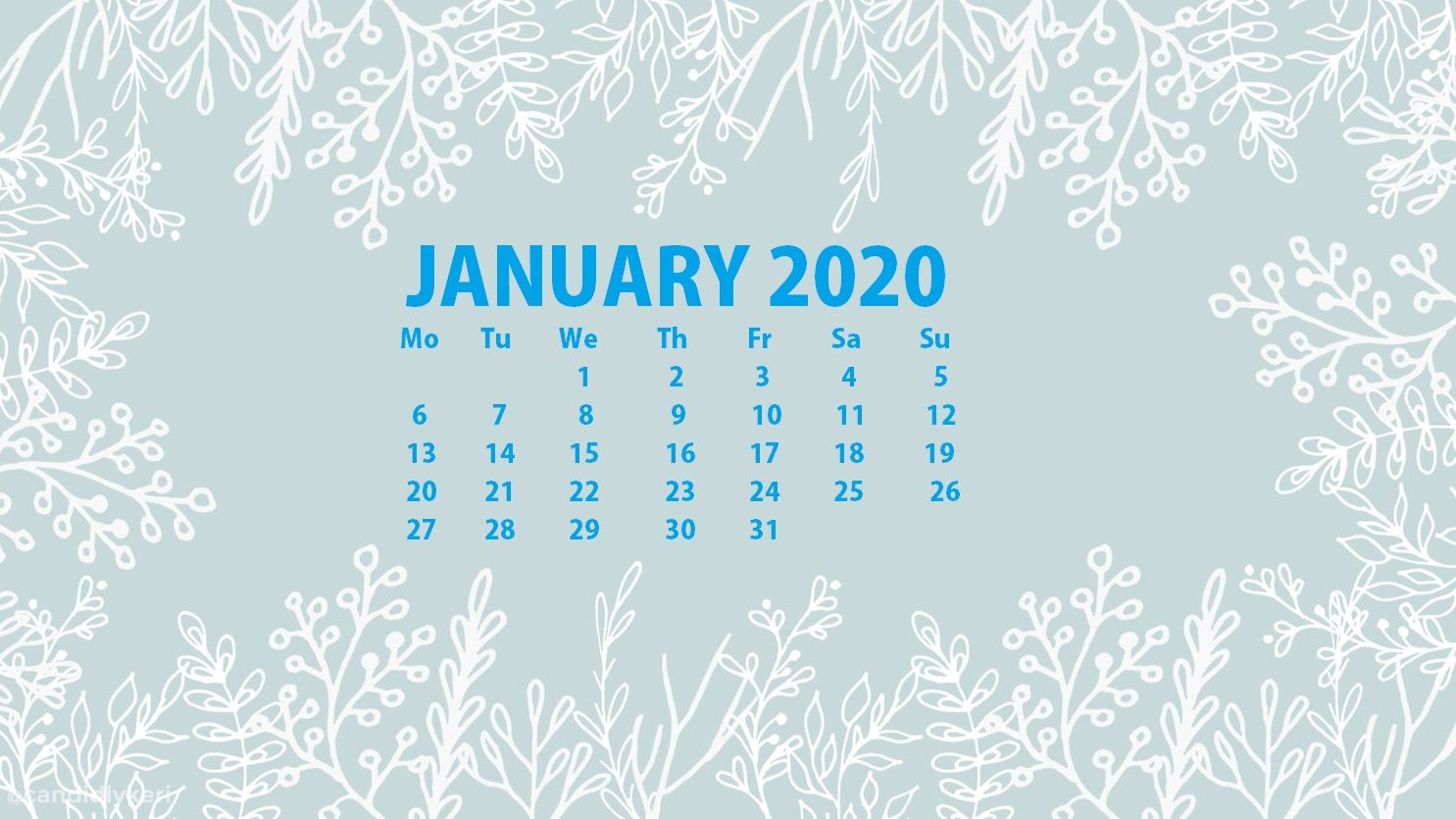 January 2020 Calendar Wallpapers   Top January 2020 Calendar 1485x835