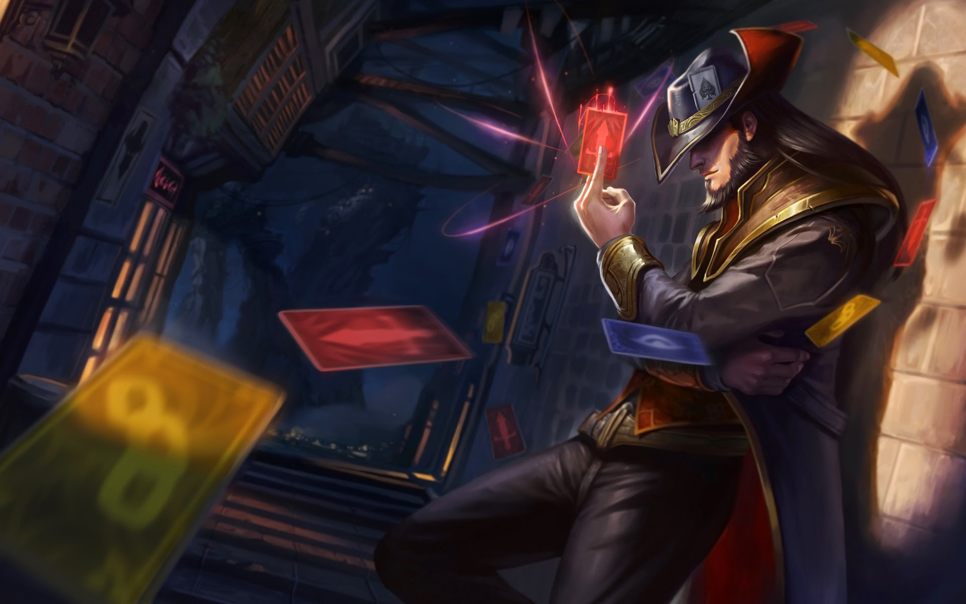 twisted fate cards league of legends LoL champion game hd wallpaper 1920x1200