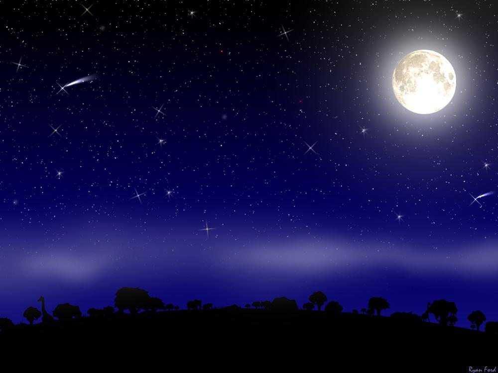 Wallpapers   Midnight Sky Scene by Liquisoft   Customizeorg 1000x750