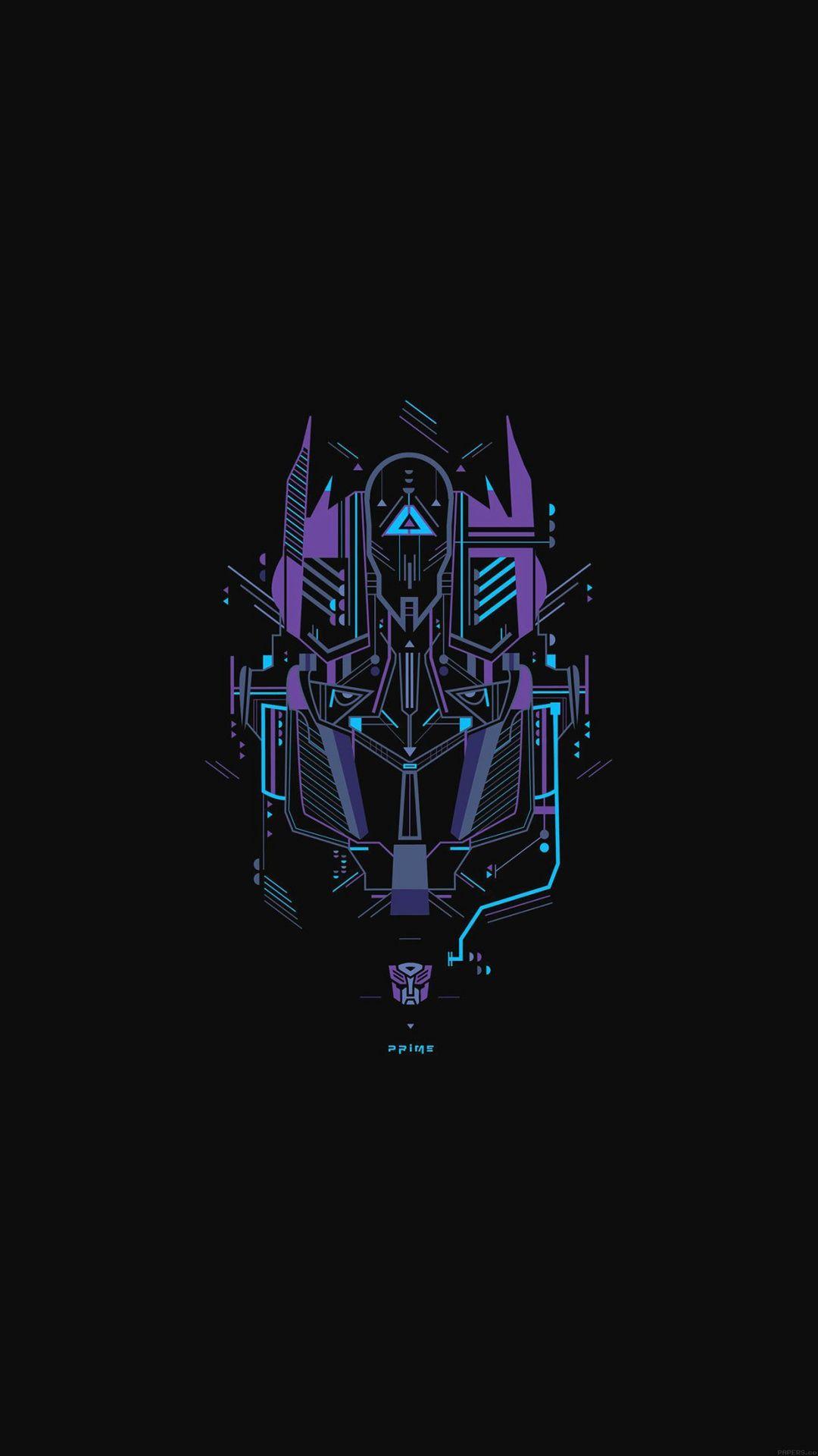 Amoled Wallpaper 5 Transformer logo Optimus prime wallpaper 1080x1920