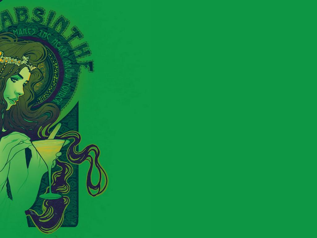 Absinthe Makes The Heart Grow Cool Wallpapers 1024x768