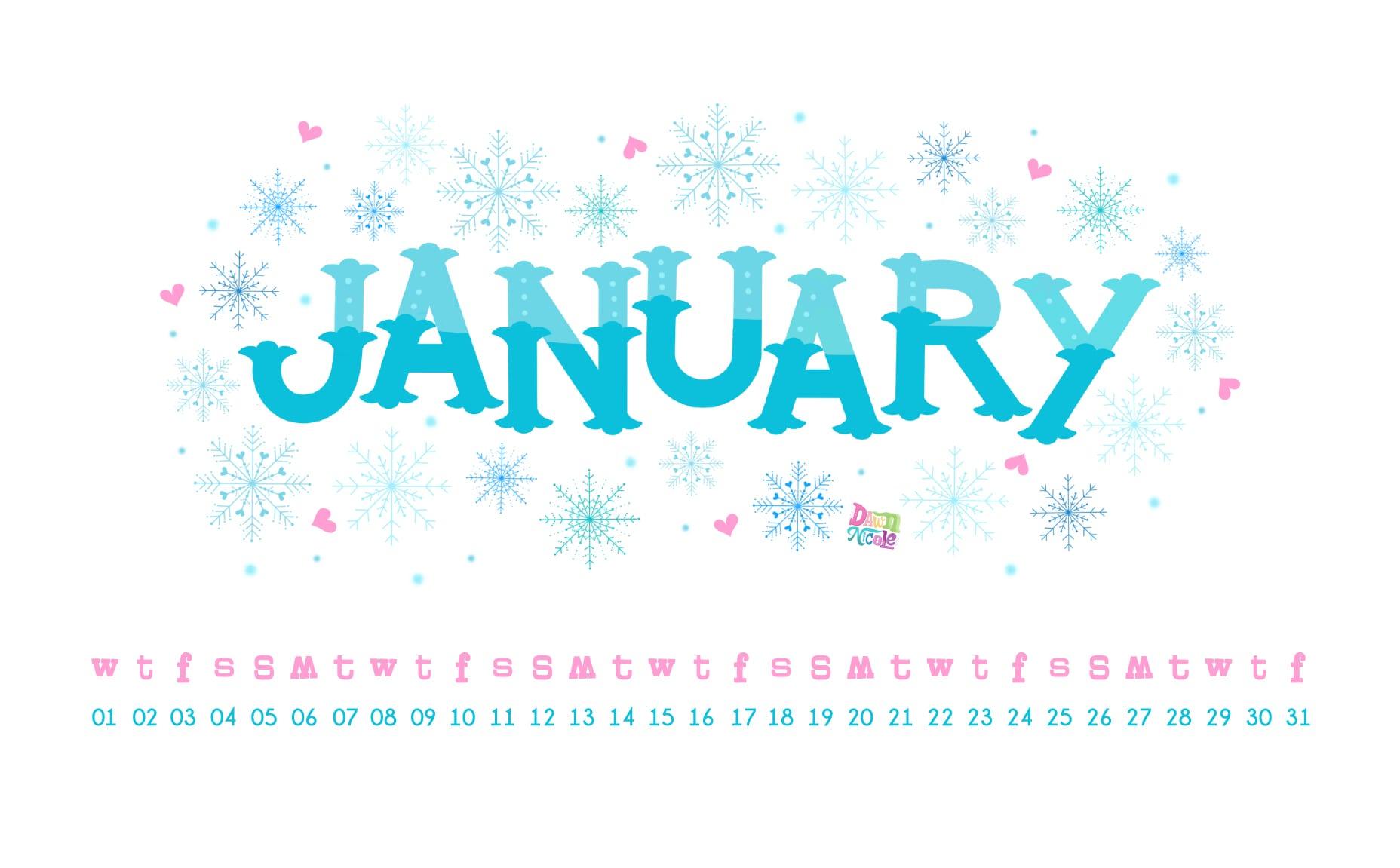2020 Calendar Printable Wallpapers Dawn Nicole 1856x1151