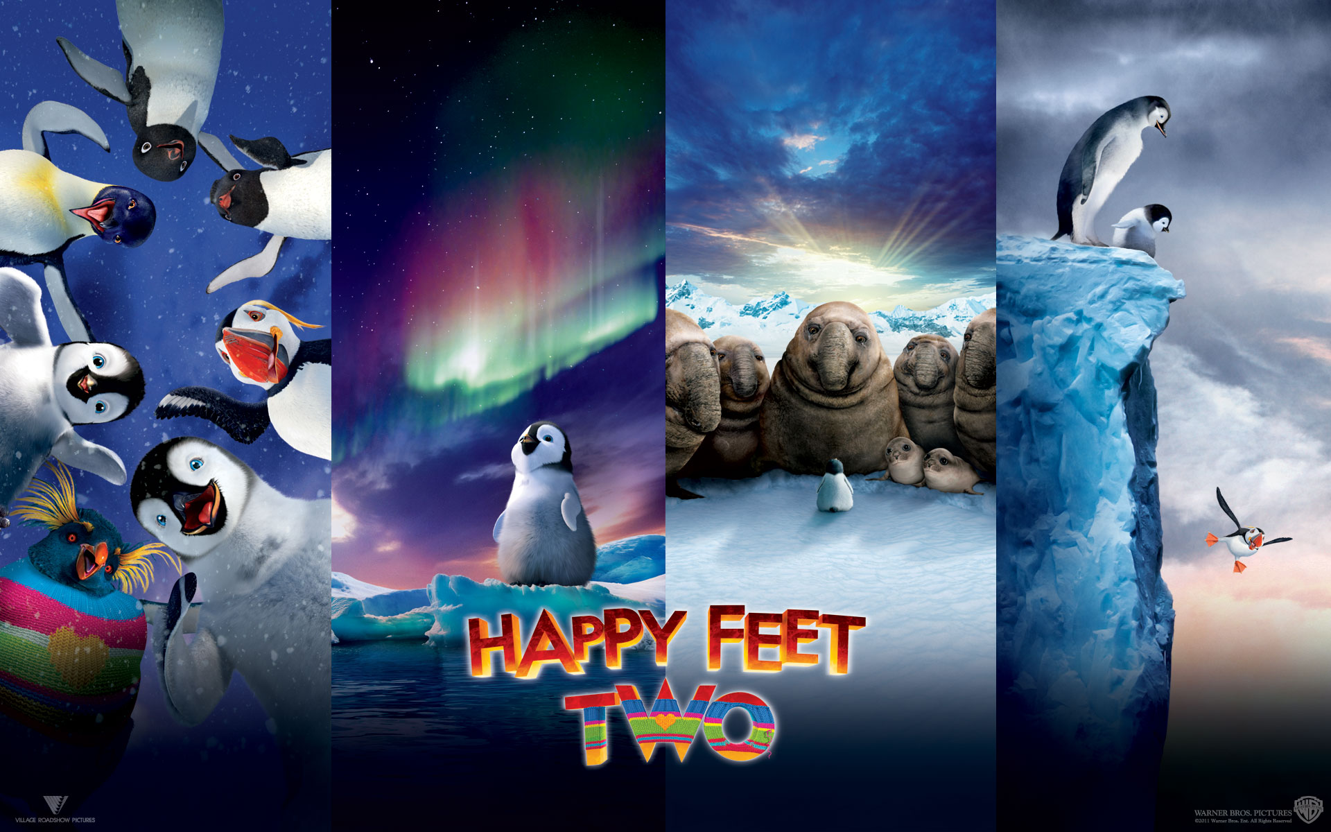 Happy Feet Two Movie Desktop Wallpaper 1920x1200