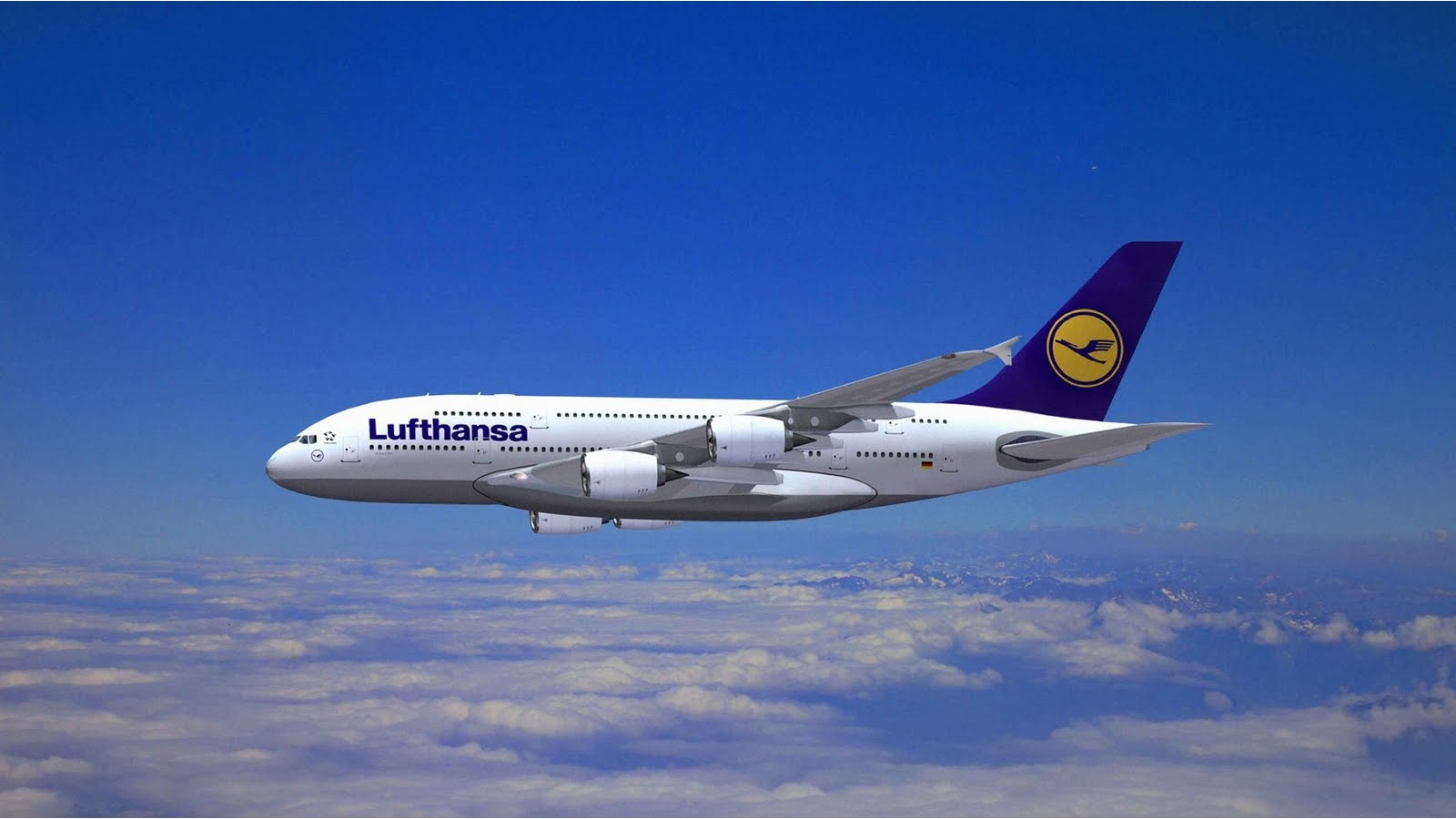 Lufthansa Airlines Airbus A380 Wallpaper   HQ Wallpapers download 1600x900