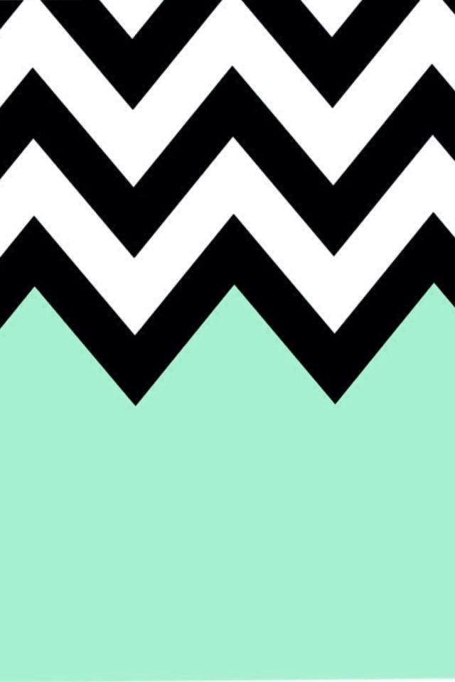 Turquoise Chevron iPhone Background Prints Pictures Pinterest 640x960
