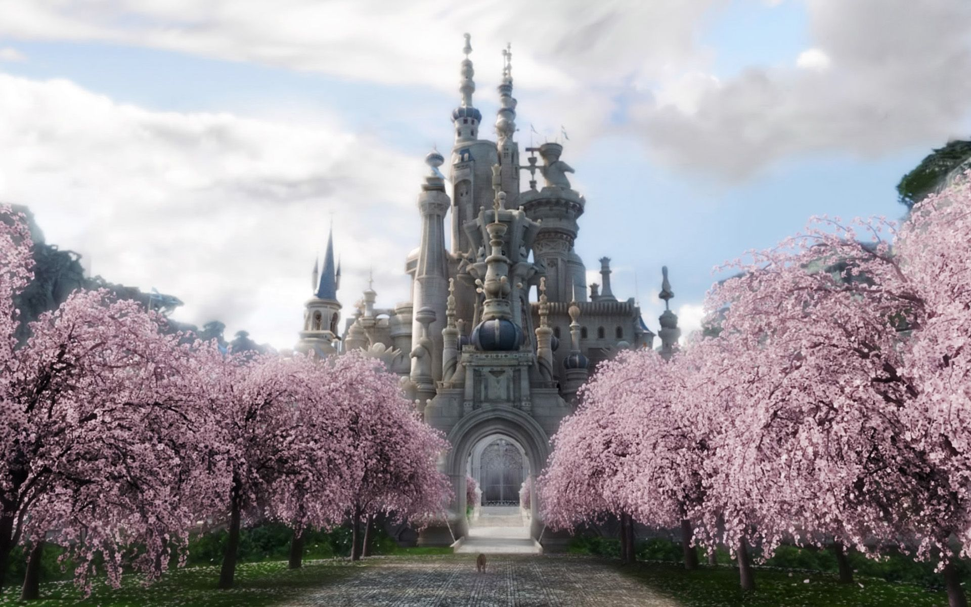 White Queens Castle   Alice in Wonderland Filme alice no pas 1920x1200