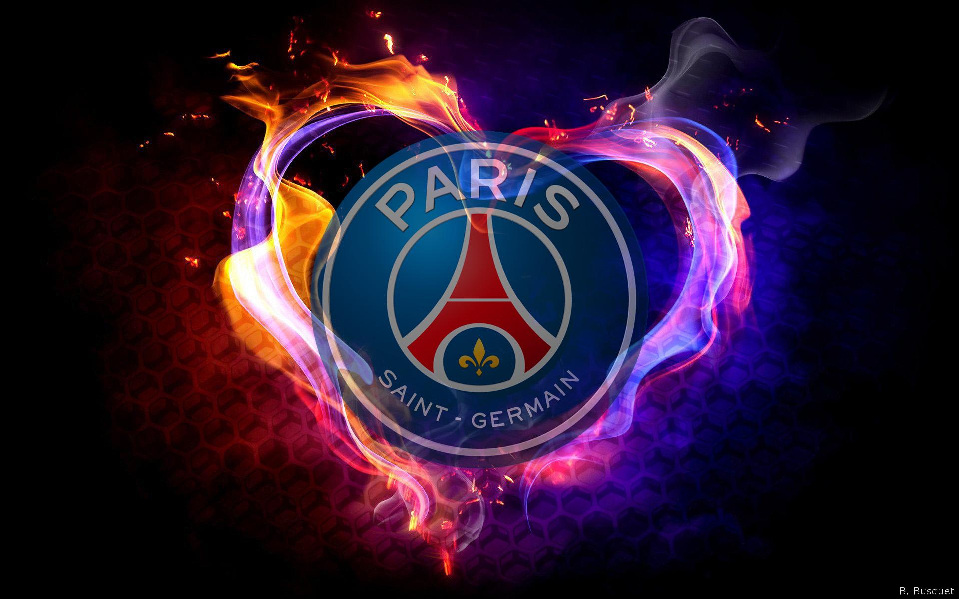 Paris Saint Germain PSG wallpaper with the logo of the footballclub 1920x1200