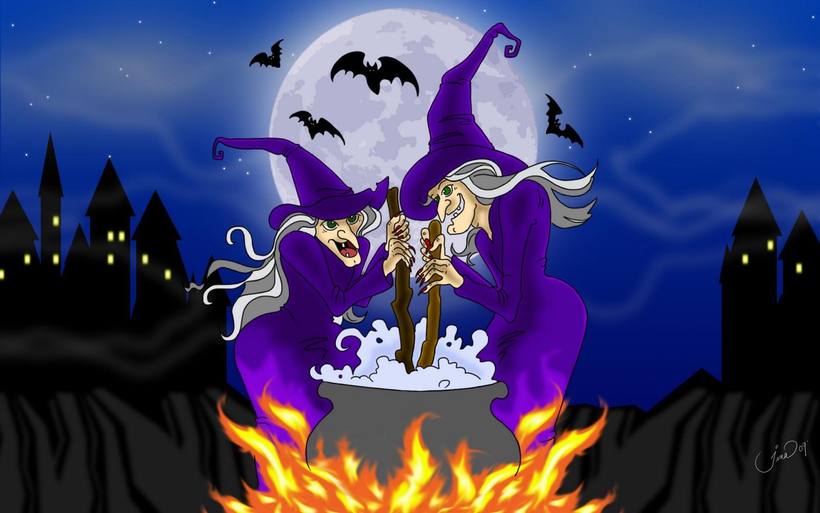 Animated Happy Halloween wallpaper 1600x1000
