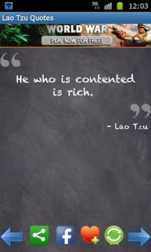 View bigger   Lao Tzu Quotes Taoism for Android screenshot 300x500