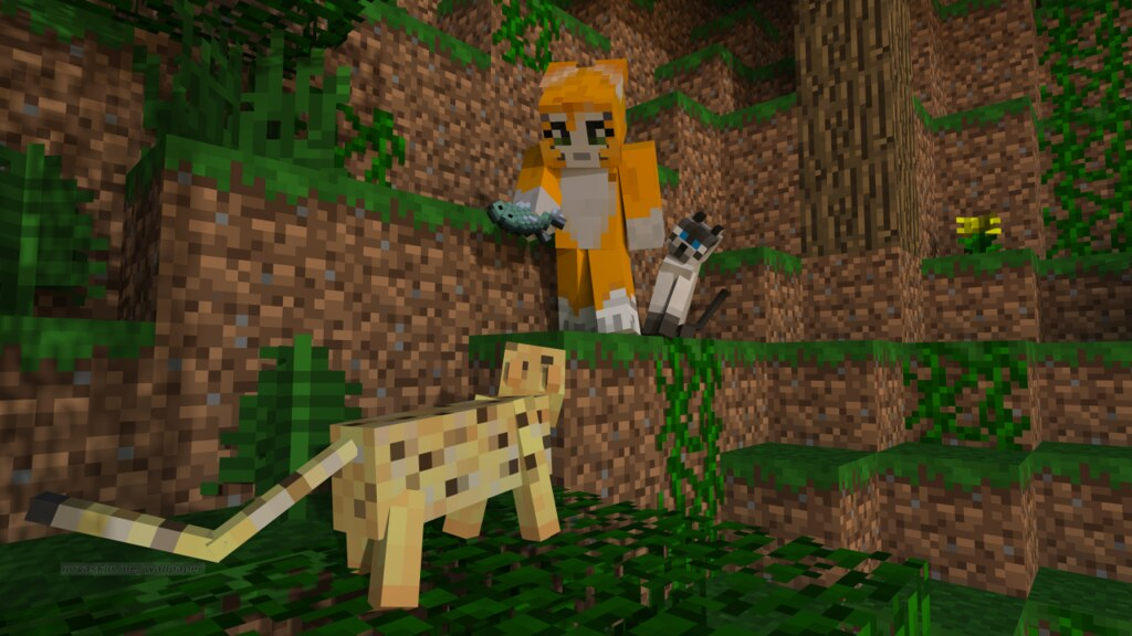 Stampy and his cats HD wallpaper stampylongheadorg Minecraft 1024x576