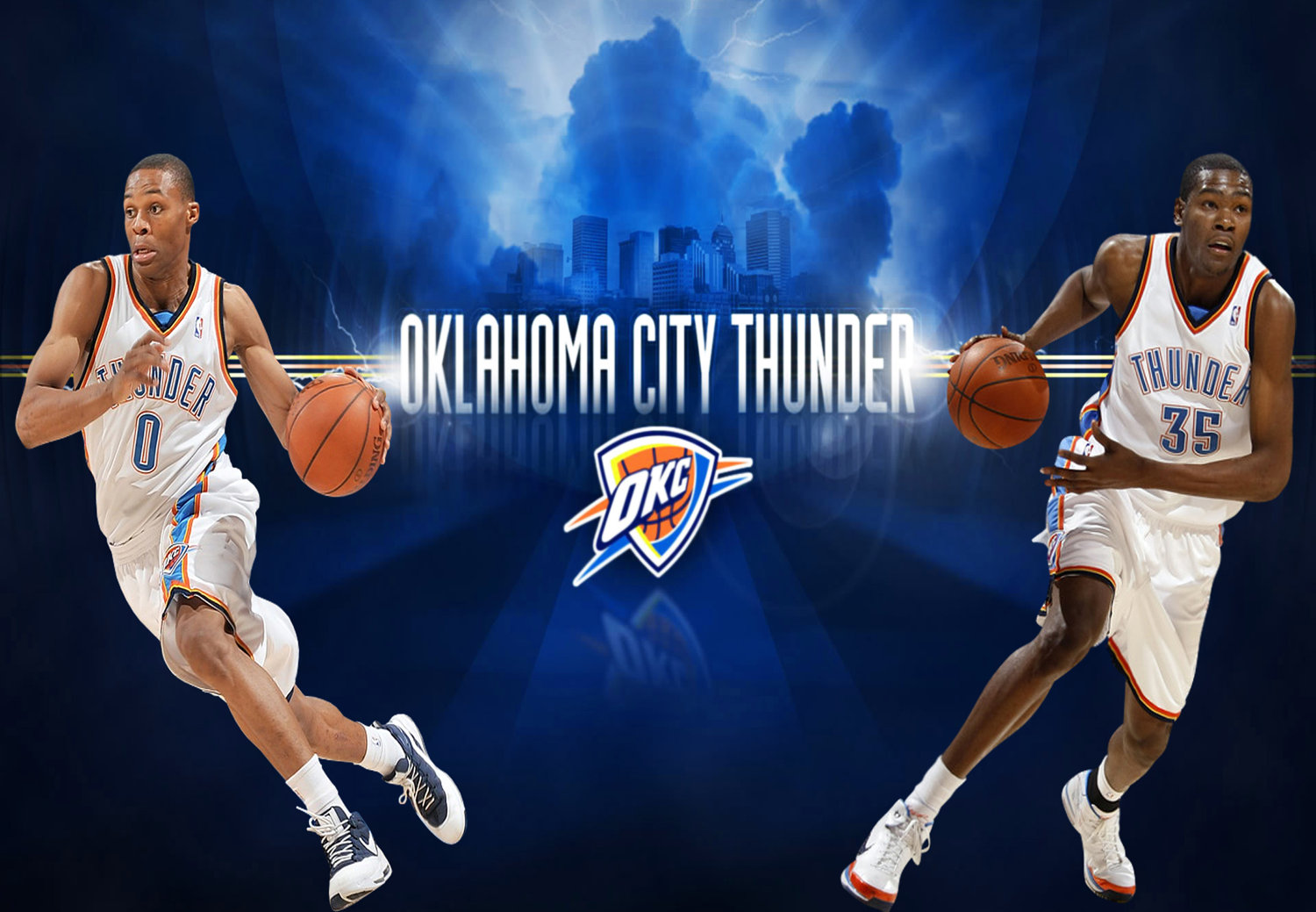 Russell westbrook wallpaper iphone wallpapersafari - Okc Thunder Kevin Durant And Russell Westbrook Wallpaper