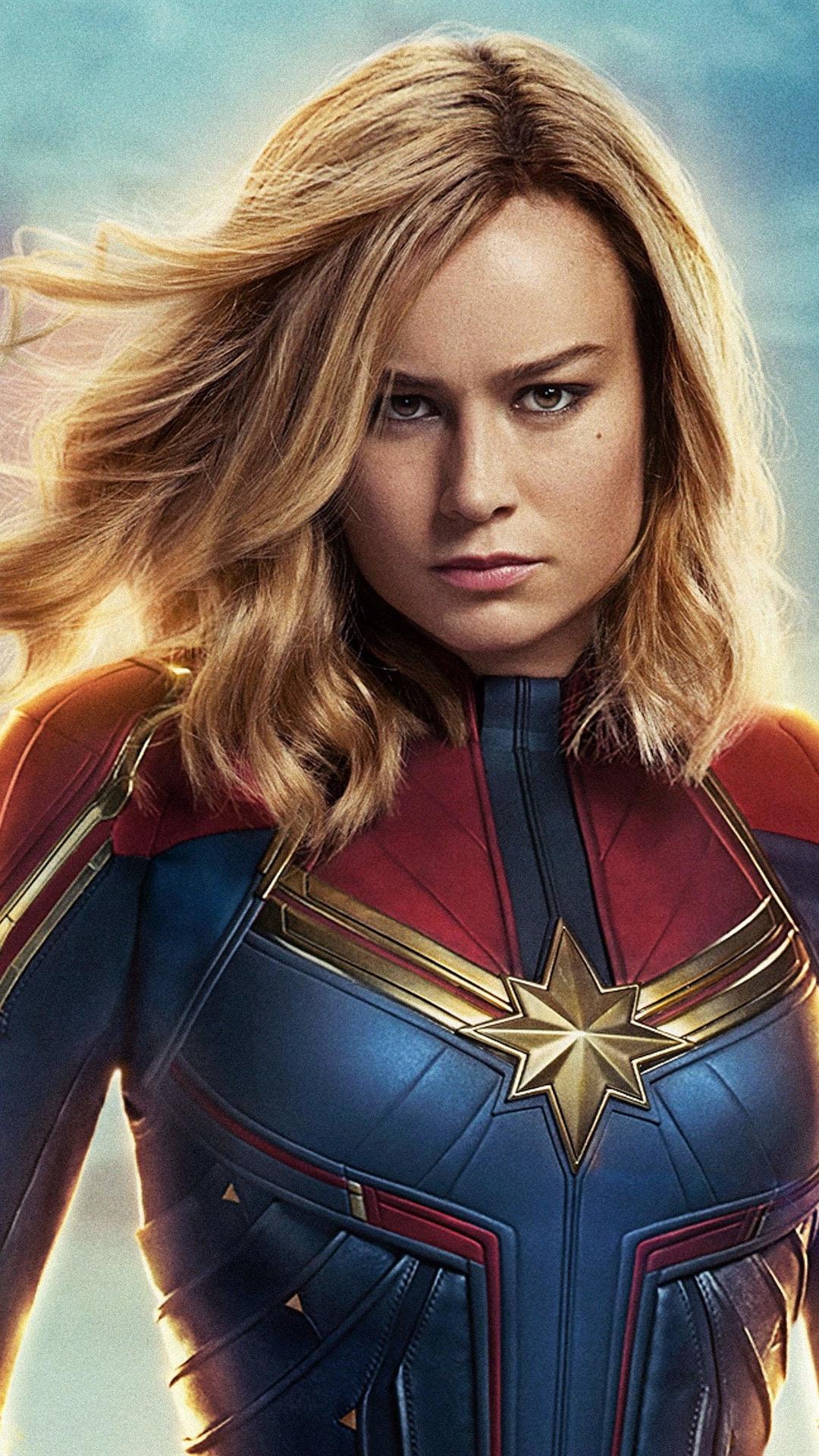 Brie Larson Captain Marvel 2019 1080x1920 iPhone 8766S Plus 1080x1920