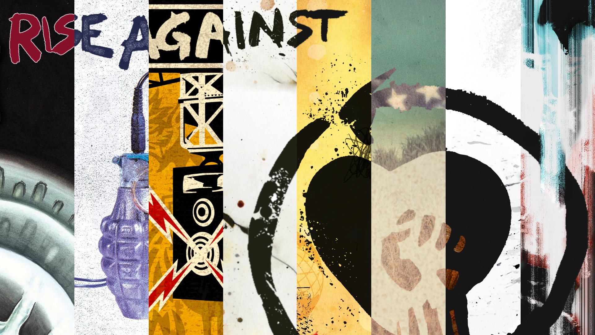 New and improved compilation wallpaper featuring Wolves riseagainst 1920x1080