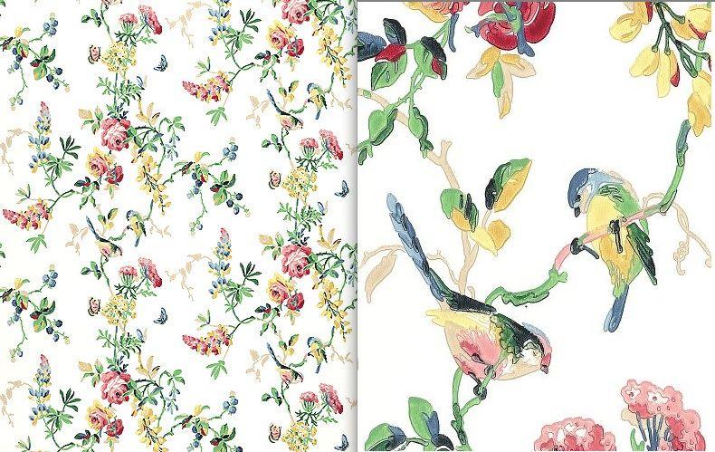 Tweety Tweet   Multi Color Bird and Rose Screen Print [OPL 27009 790x499