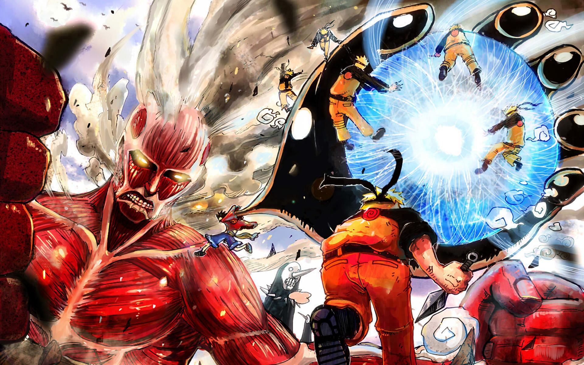 Attack on Titan One Piece Naruto Bleach Wallpaper HD 1920x1200