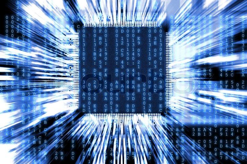 Blau computer circuit board background Stock Foto Colourbox 800x533