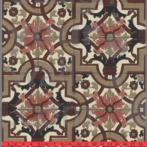 Tiled Moroccan vintage custom wallpaper 015 Faux Tile wallpaper 500x500