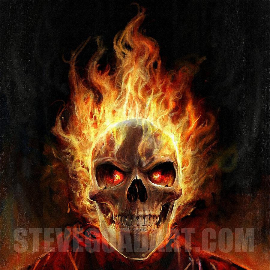Flaming Skull Wallpaper Flaming skull by stevegoad 900x900