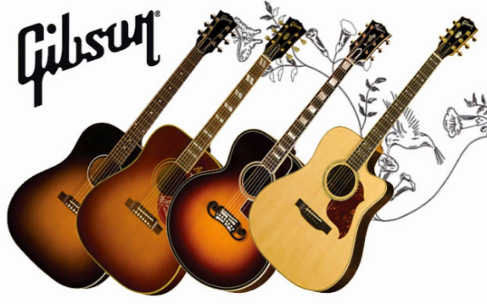 1600x1000 GibSon AcouStic GuiTar WalLpaPer Hd 1920x1200 Download Wallpaper For