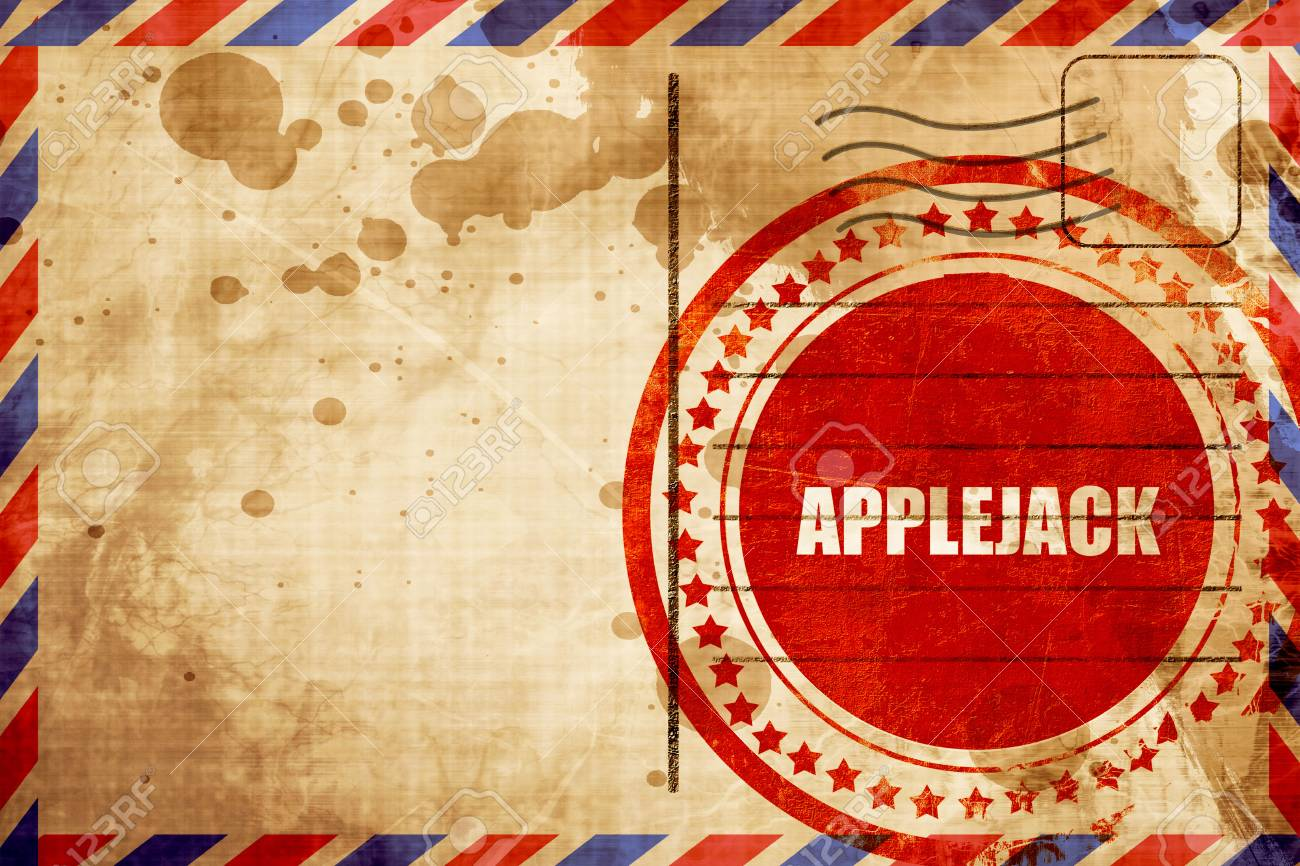 Applejack Red Grunge Stamp On An Airmail Background Stock Photo 1300x866