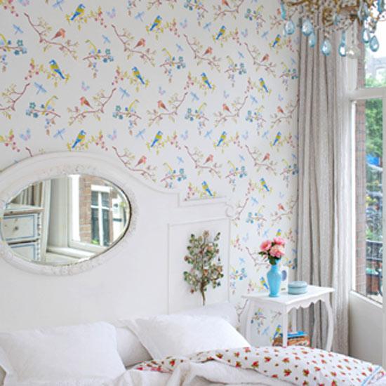 roomenvy   bird wallpaper design 550x550