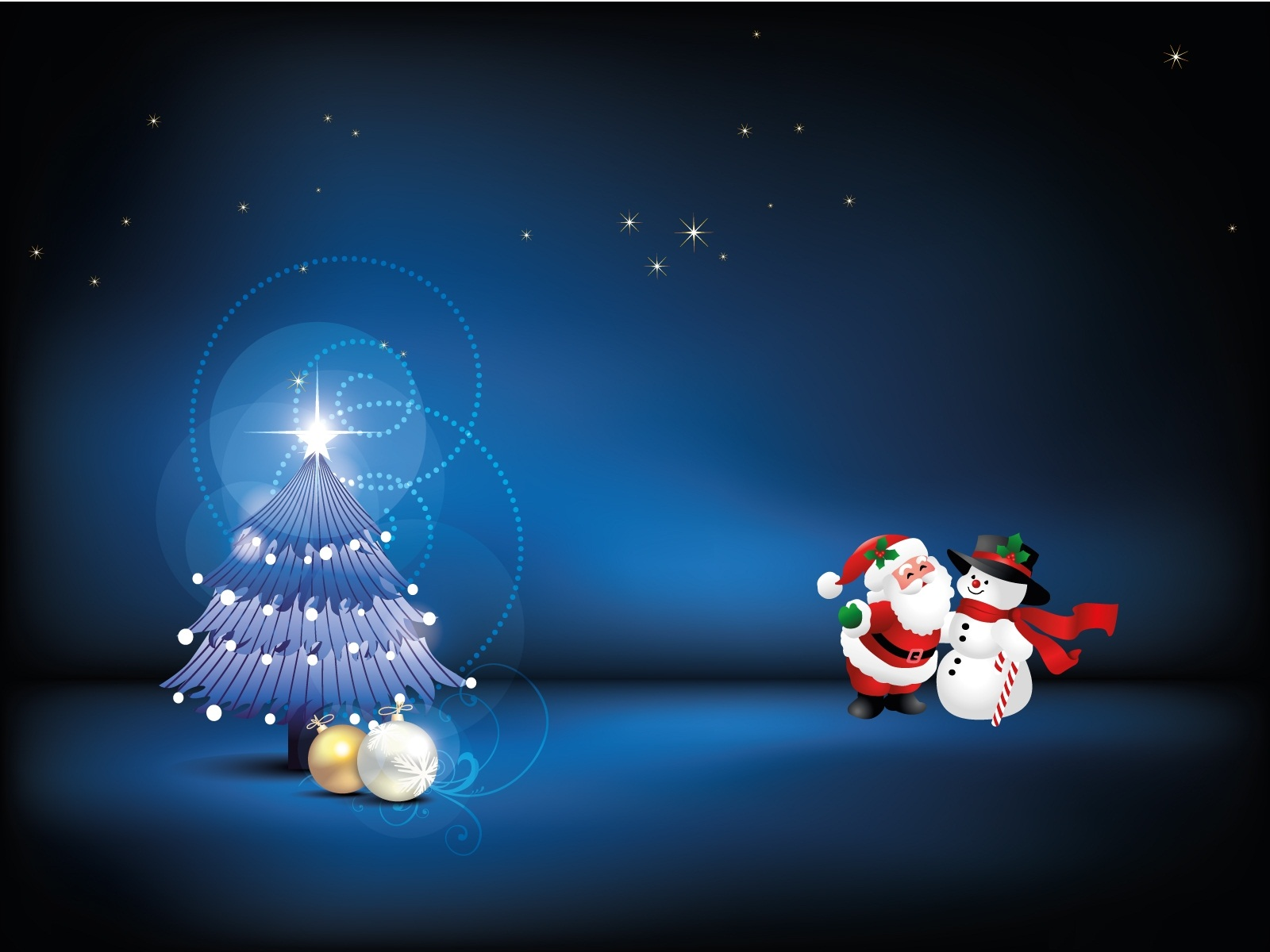 Blue Christmas   Backgrounds Wallpapers Pictures Pics Photos 1600x1200