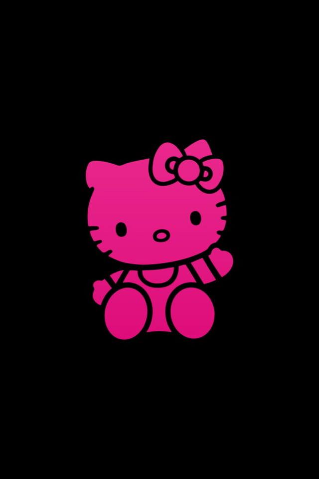 76+] Pink And Black Hello Kitty Background on WallpaperSafari
