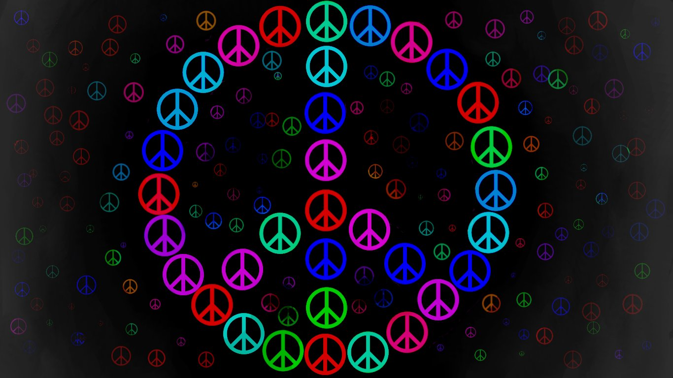 Peace Sign Wallpaper 7931 1366x768 px 1366x768