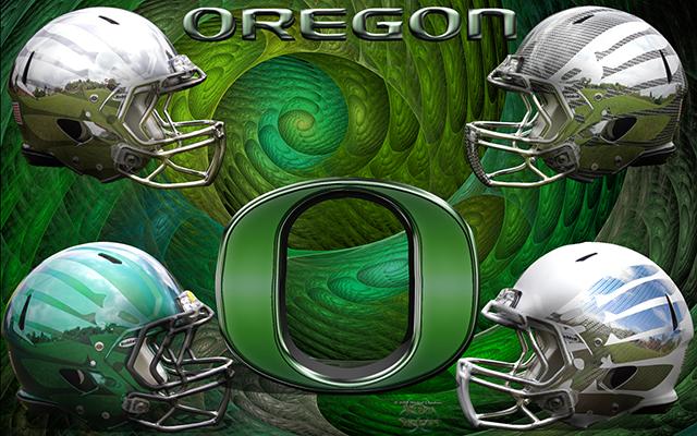 Oregon Ducks Helmets Wallpaper