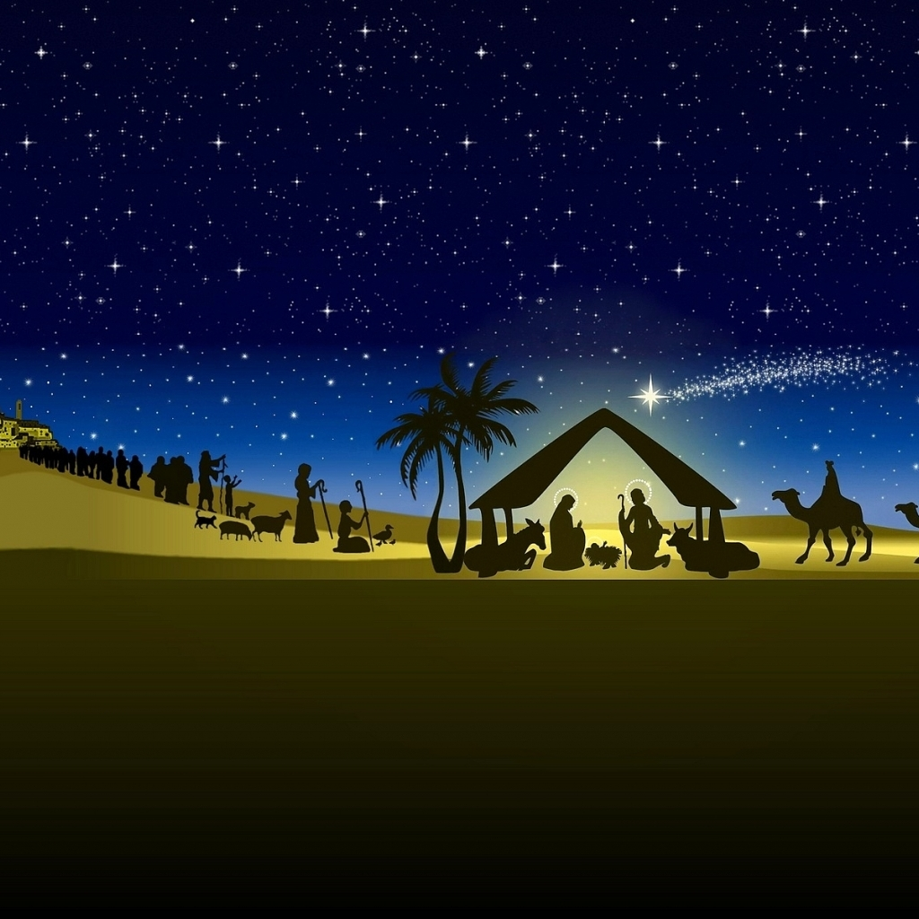Nativity Vector Hd Wallpaper Wallpaper List 1024x1024