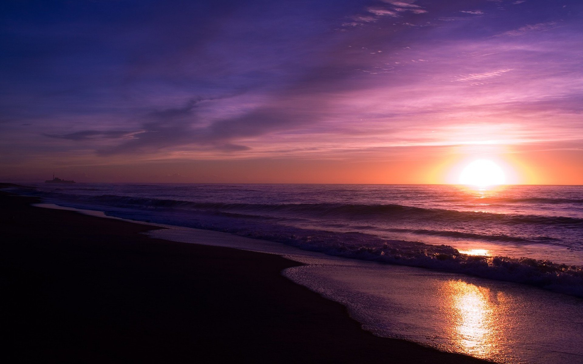 Purple and Pink Sunset   Wallpaper 43978 1920x1200