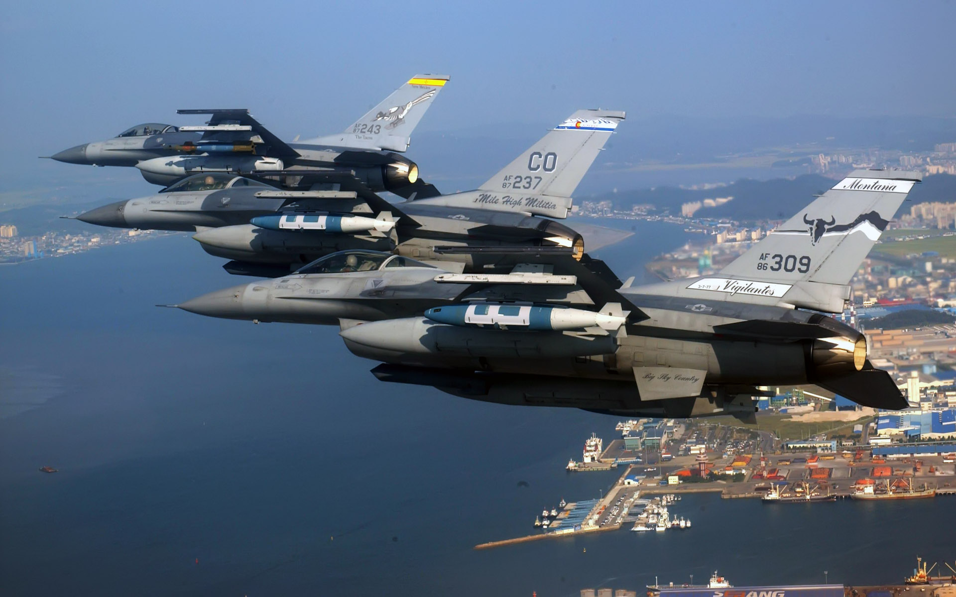 Air National Guard F 16 Fighting Falcons Wallpapers HD Wallpapers 1920x1200