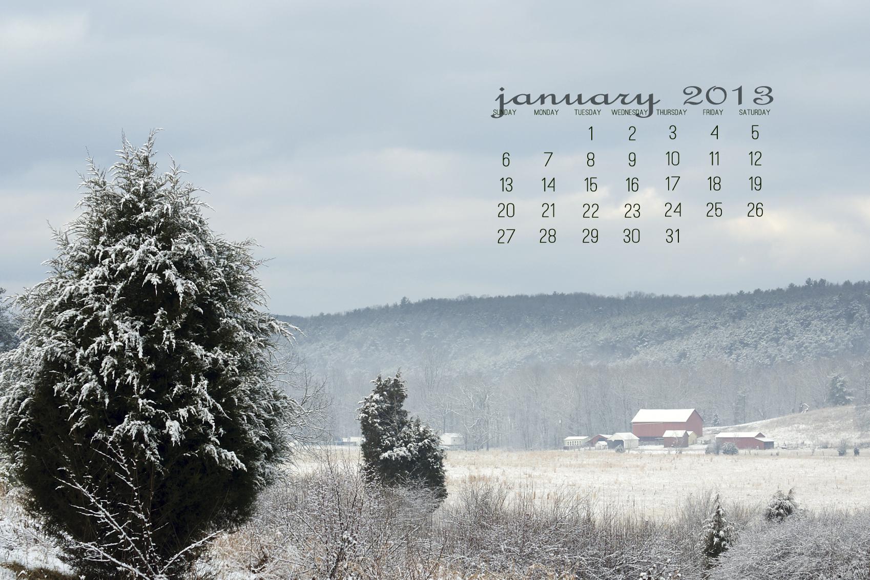 Calendar Wallpaper January Wallpapers Desktop Pictures 1698x1132