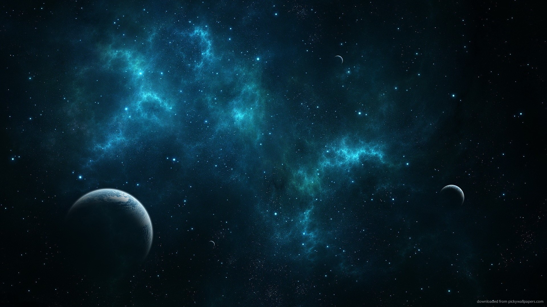 Deep blue space picture 1920x1080