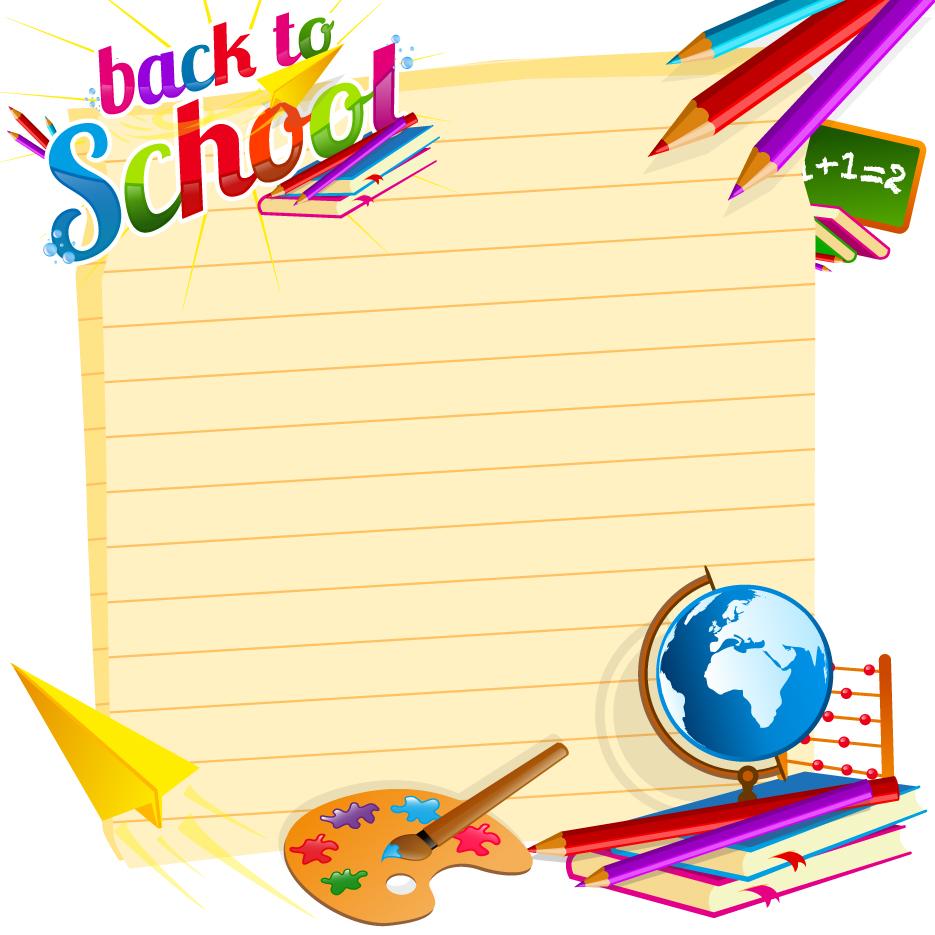 School backgrounds set 19   Vector Background download 935x935