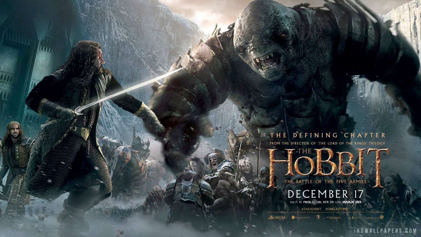 The Hobbit The Battle of the Five Armies Poster HD Wallpaper   iHD 1600x900