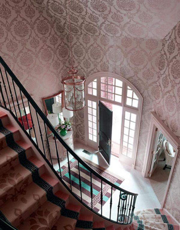 Foyer Design Trends : Wallpaper for hall wallpapersafari