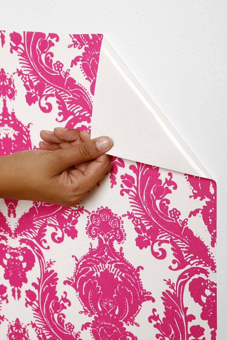 Damsel Wallpaper  Fuchsia Self adhesive and does not damage paint 730x1095