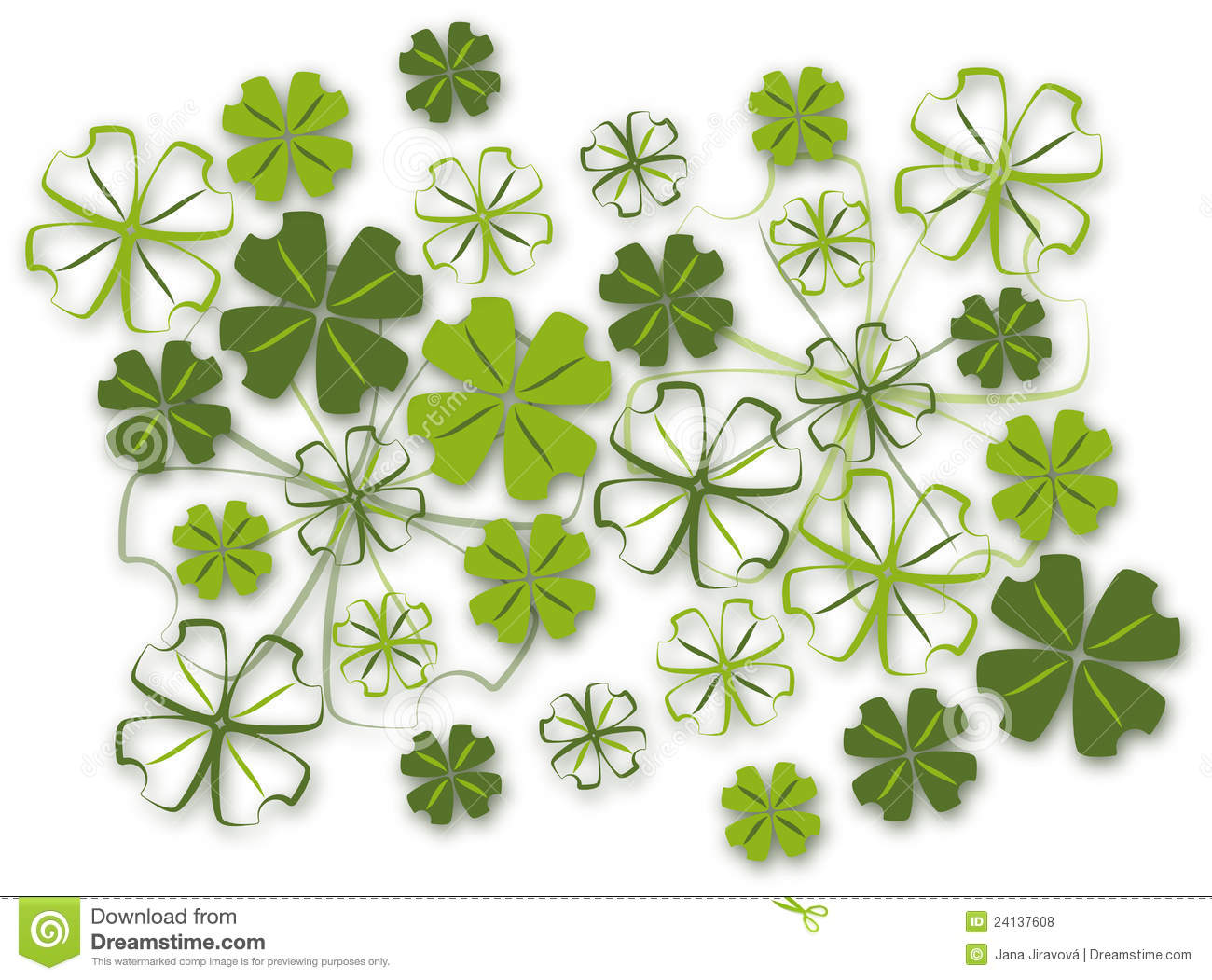 Leaf Clover Background Four leaf clover background 1300x1051