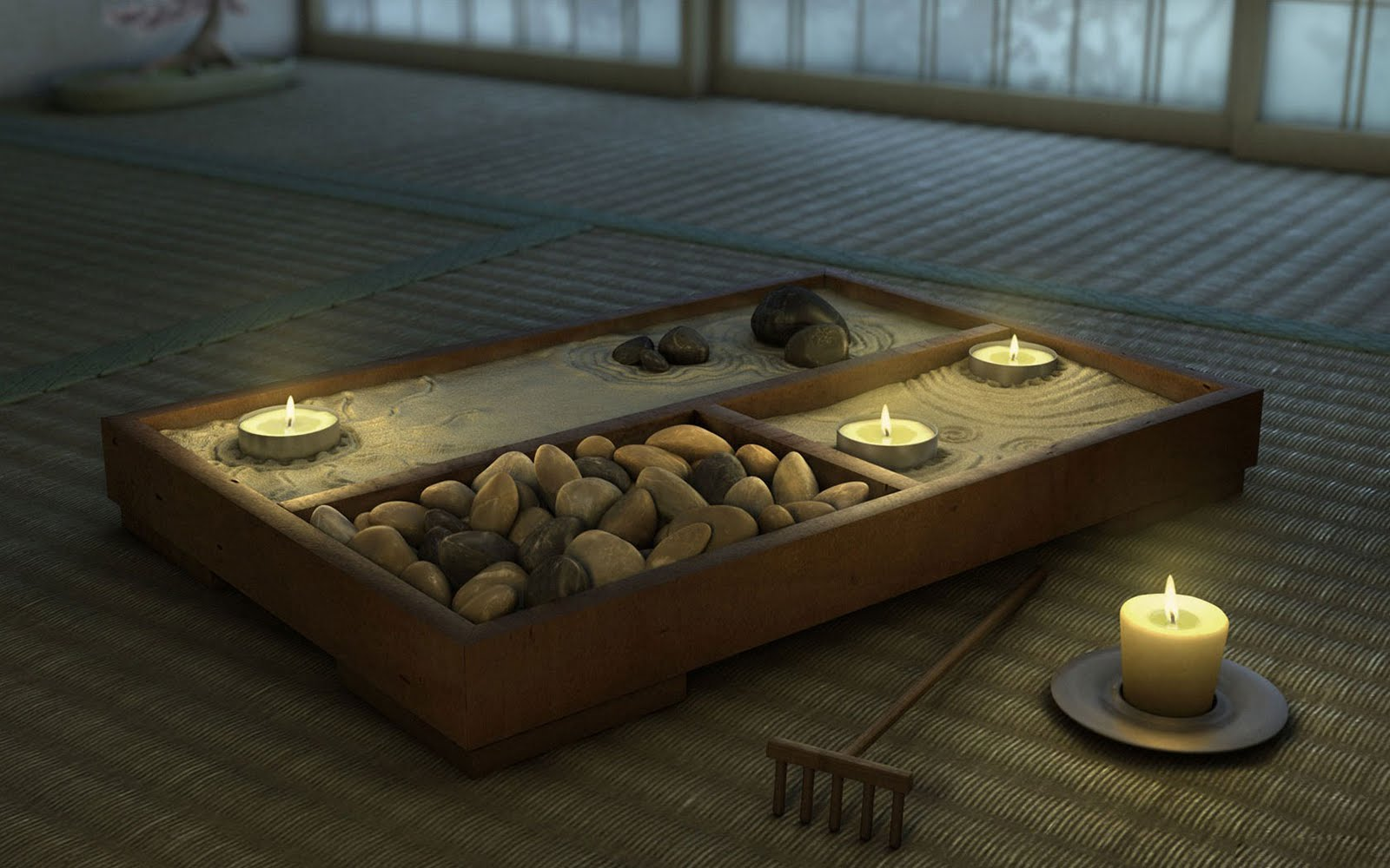 Zen rock garden wallpaper - Hd Wallpapers Mini Japanese Zen Garden Wallpaper 1600x1000