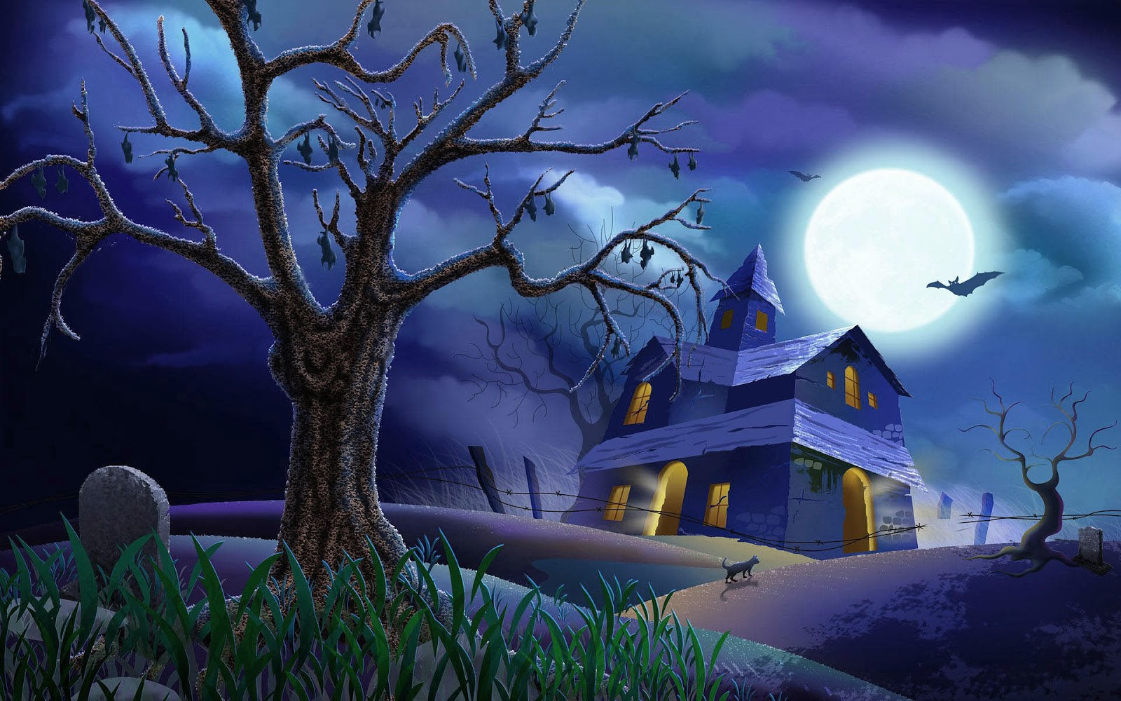 wallpaper 3d Halloween Wallpaper For Mac 1600x1000