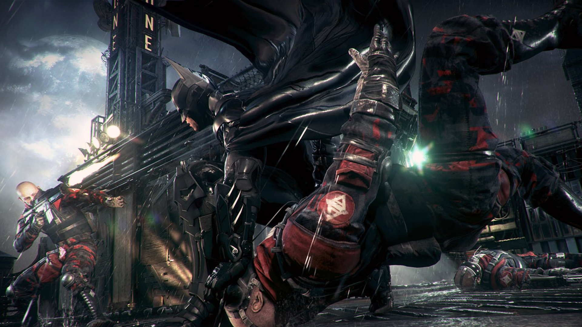 fighting batman arkham knight game hd 1920x1080 1080p wallpaper and 1920x1080
