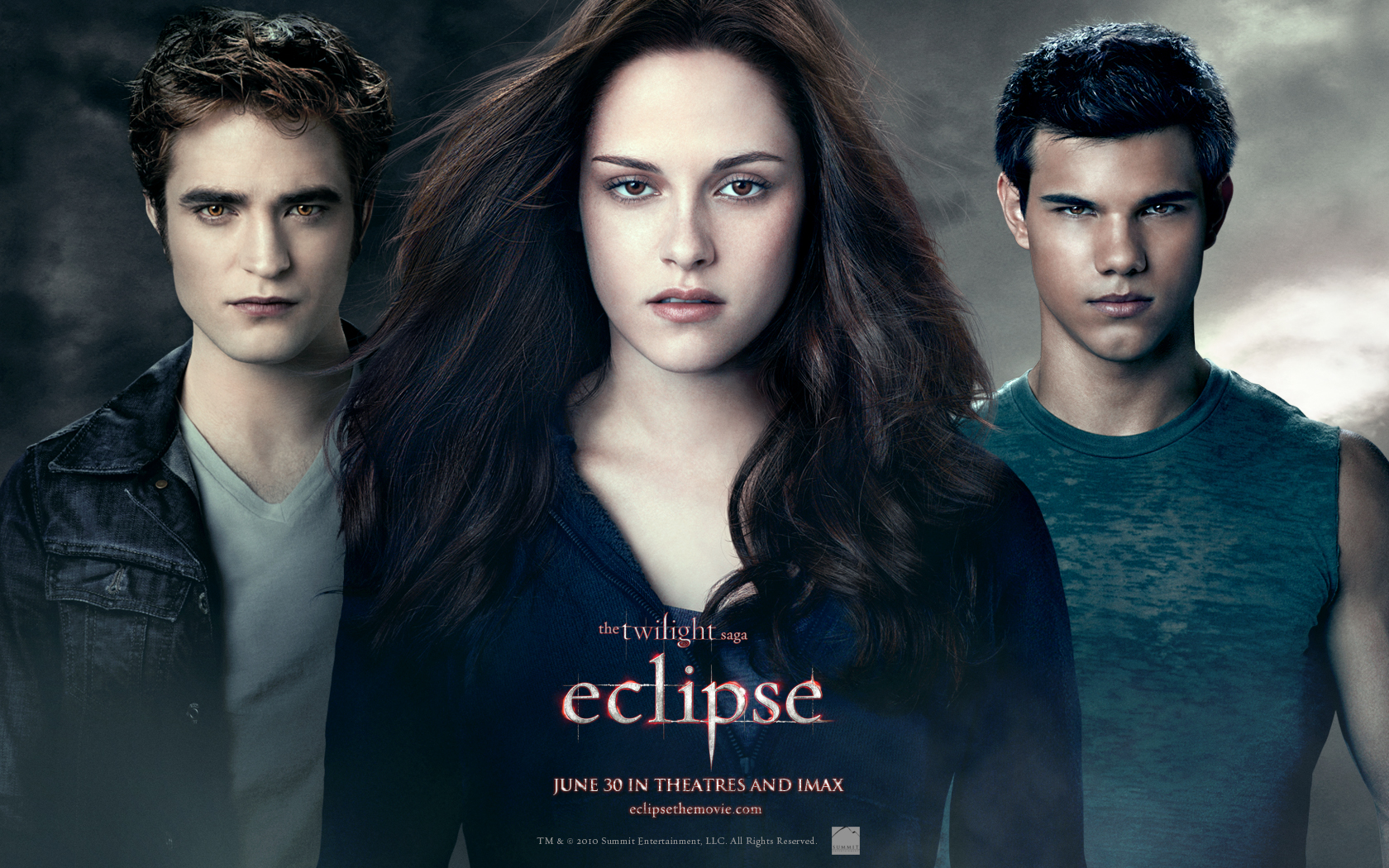 Bella Edward and Jacob from Twilight Eclipse Desktop Wallpaper 1680x1050