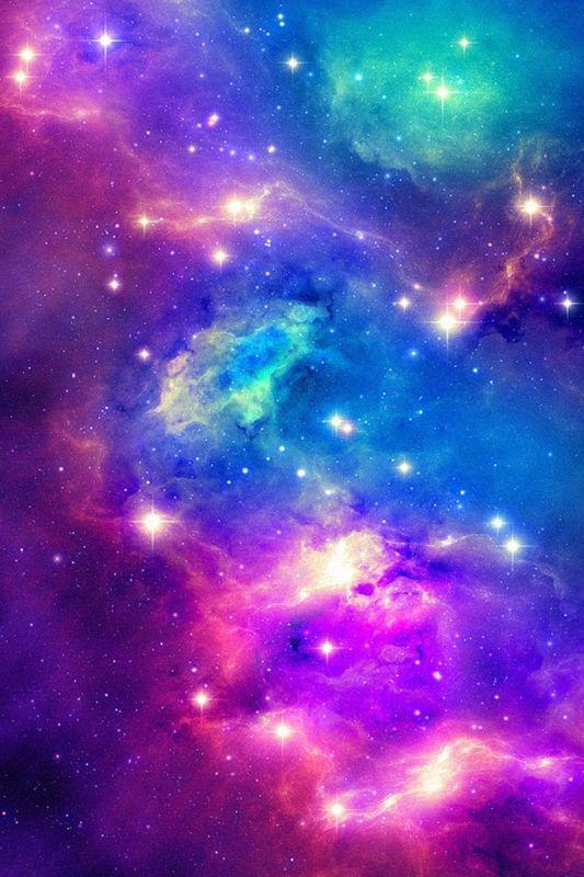 Pink purple green and blue galaxy phone wallpaper 533x800