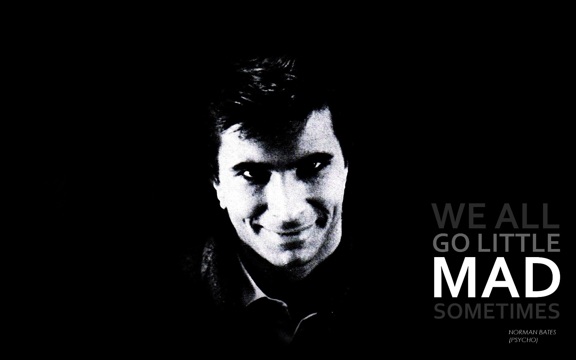 Quotes Psycho Wallpaper 1920x1200 Quotes Psycho Grayscale Alfred 1920x1200