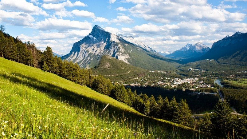 Banff National Park View HD Wallpaper   WallpaperFX 804x452