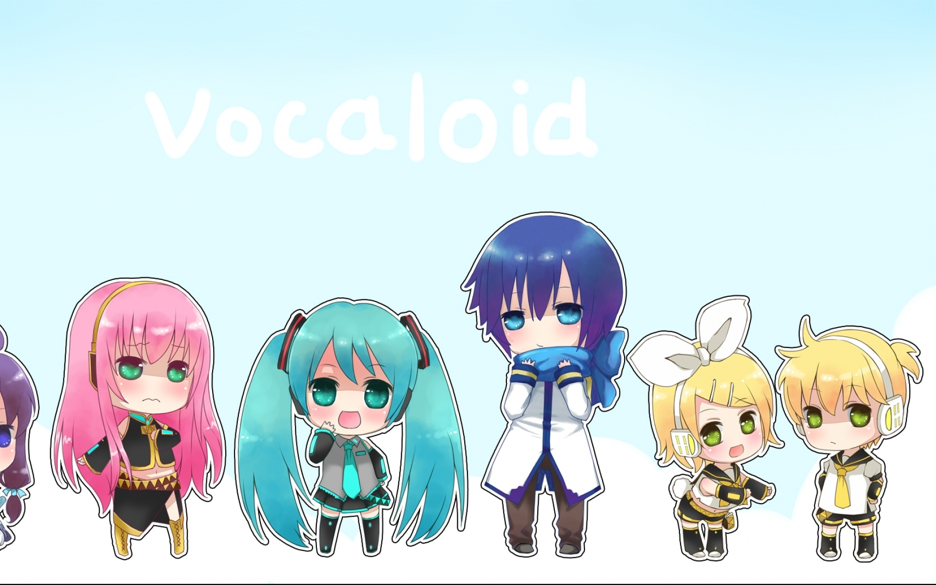 Chibi Group Wallpapers Backgrounds Animejpg 1920x1200
