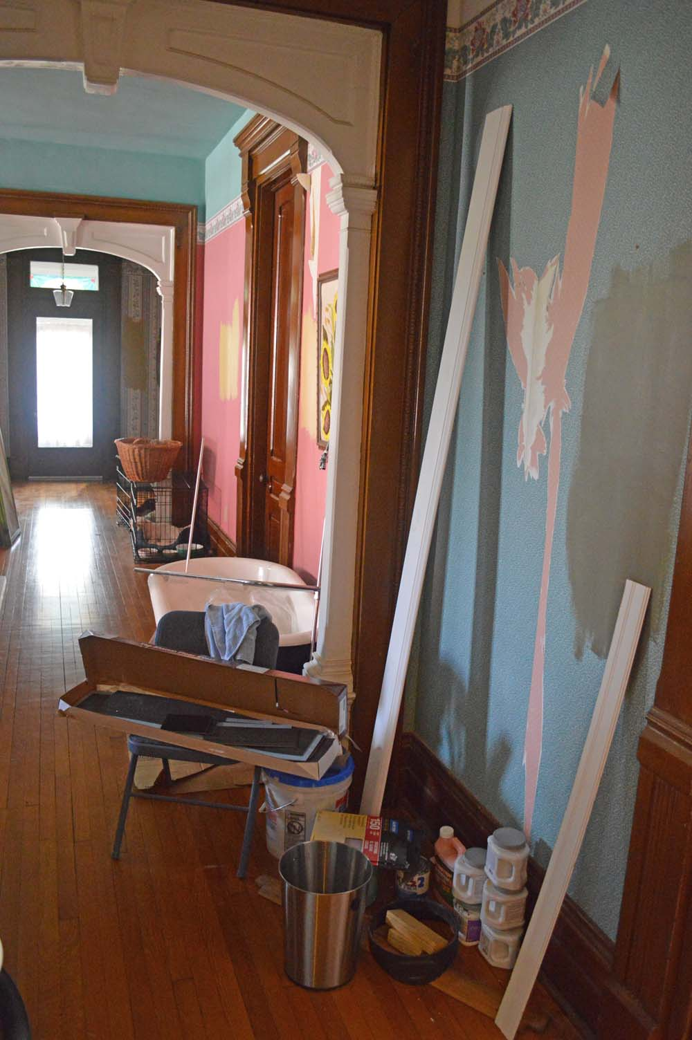 DIY Bathroom Renovation Days 8 9 10 Coping with Moulding Caulking 1000x1504
