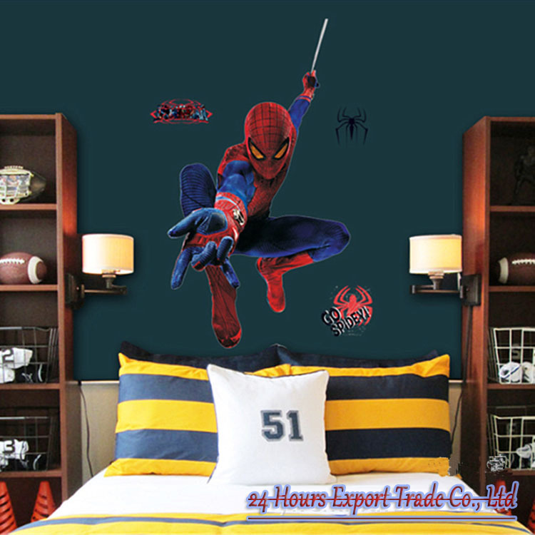 Spiderman Wall Stickers Peel and Stick for Children Boys Kids room 750x750