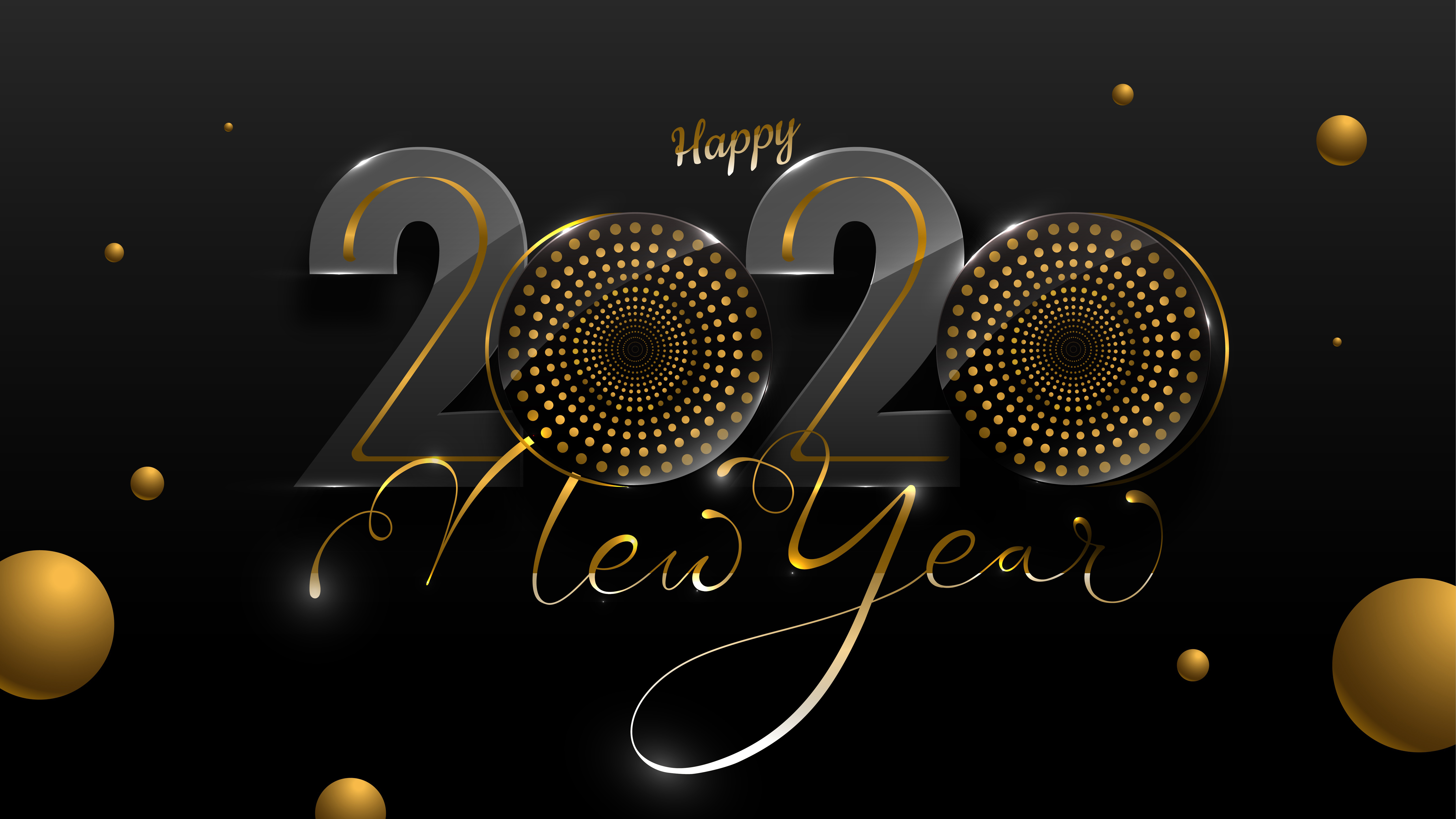 2020 Happy New Year 4K 8K Wallpapers HD Wallpapers 7680x4320